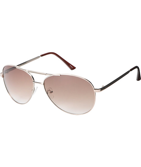Jack Martin Team Ramrod Gold Aviator Sunglasses