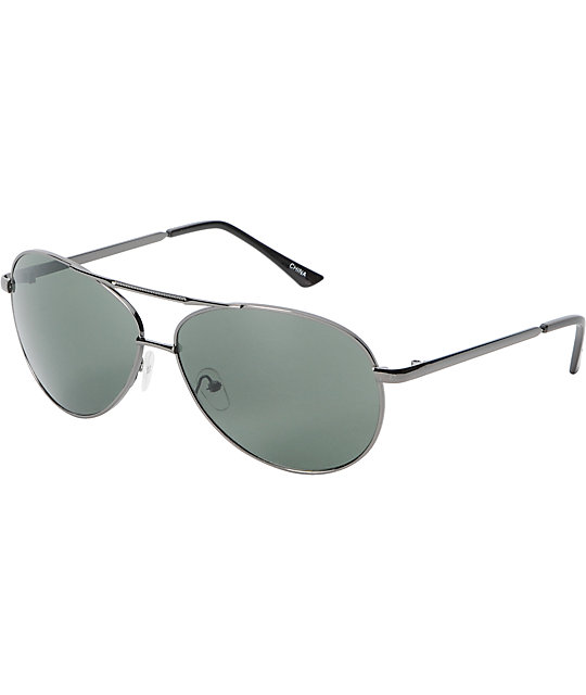 Jack Martin Team Ramrod Gun Metal Aviator Sunglasses