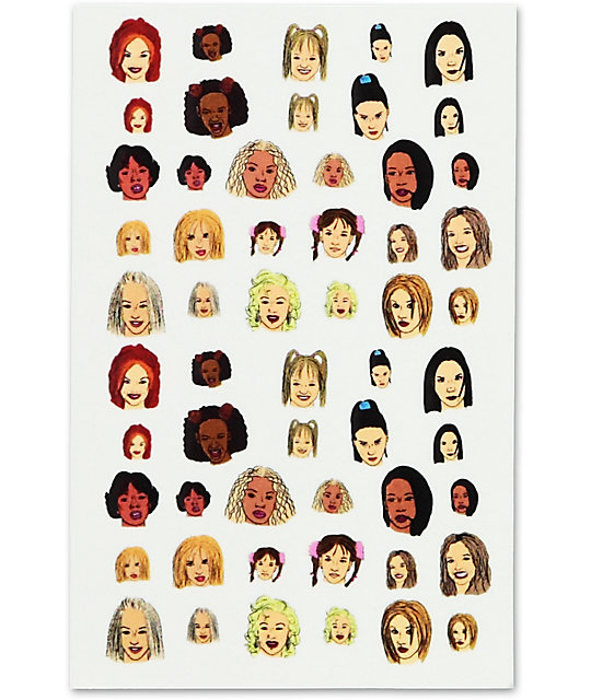 Janes Tiny Things Girl Power Nail Decals