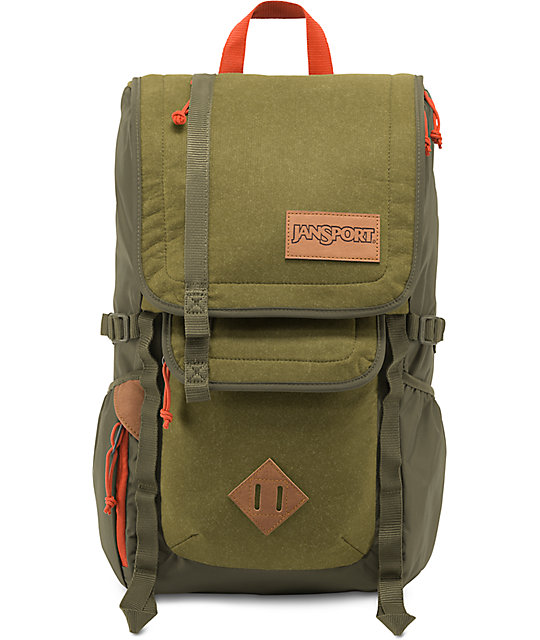 Jansport Hatchet Special Edition Army Green Felt 28L Backpack at ...