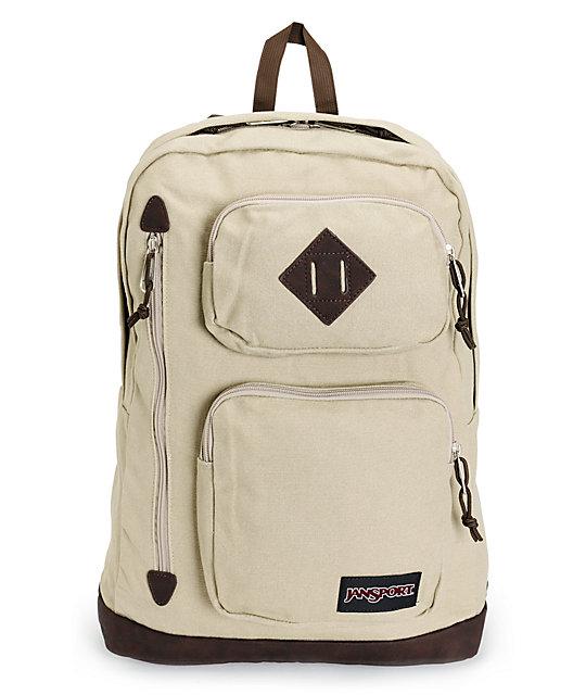 Jansport Houston Desert Beige Laptop Backpack   Zumiez