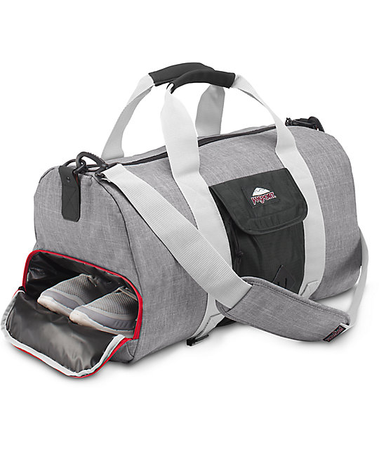 Jansport LD Black & Grey Marl 30L Duffle Bag