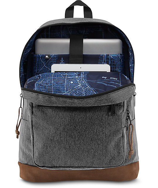 Jansport Right Pack Digital Edition 31L Black & White Herringbone Backpack