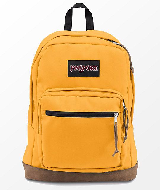 Jansport Right Pack English Mustard 31L Backpack   Zumiez
