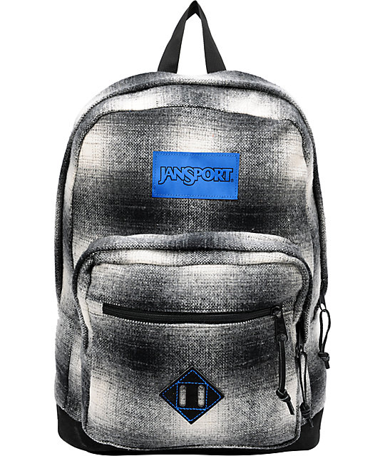 Right Pack Grey Plaid Backpack