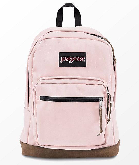 jansport right pack pink blush 31l backpack zumiez