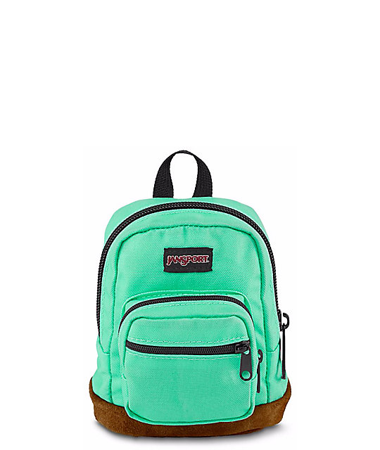 Jansport Right Pouch Seafoam Green .05L Mini Backpack at Zumiez : PDP