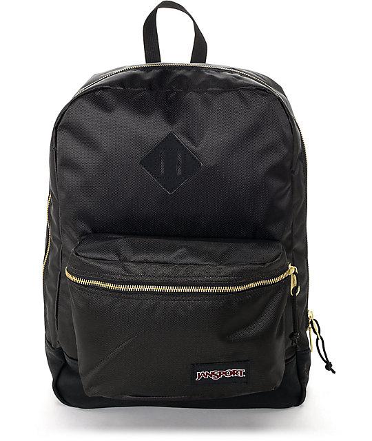 Jansport Super FX Black & Gold 25L Backpack | Zumiez