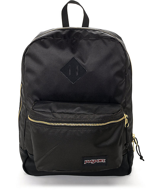 Jansport Super FX Black & Gold 25L Backpack at Zumiez : PDP