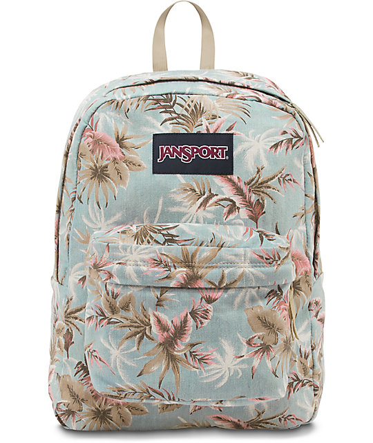 Jansport Super FX Palm Denim Backpack