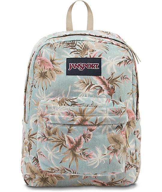 Jansport Super FX Palm Denim Backpack | Zumiez