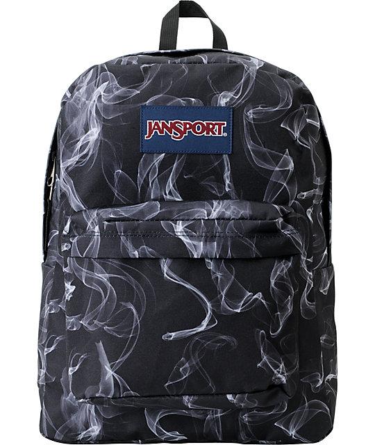Jansport Superbreak Black & White Smoke Screen Backpack