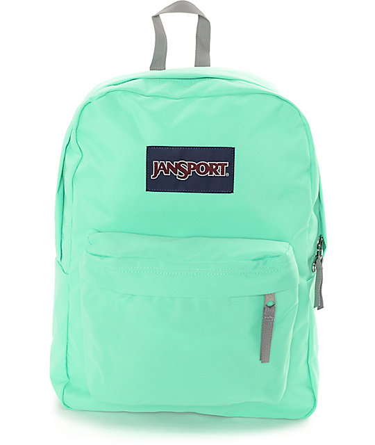 Jansport Superbreak Seafoam Green Backpack | Zumiez