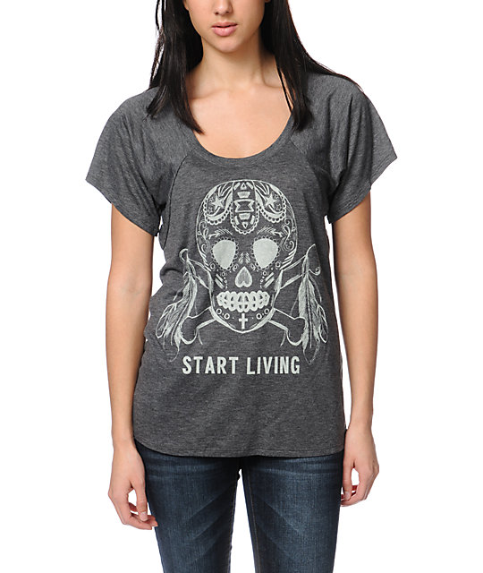 Jawbreaking Start Living Heather Grey T-Shirt