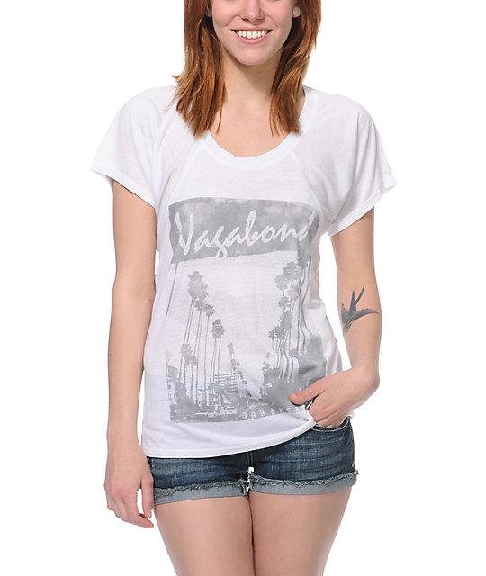 Jawbreaking Vagabond White Flowy T-Shirt