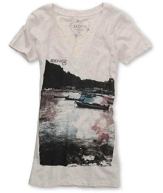 Jedidiah Boatlift Cream T-Shirt