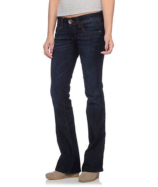 Jolt Heather Dark Wash Bootcut Jeans