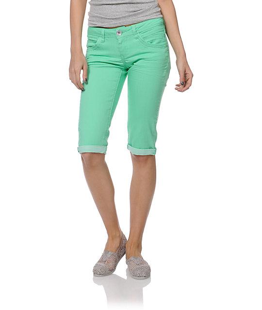 Jolt Kelly Green Bermuda Shorts