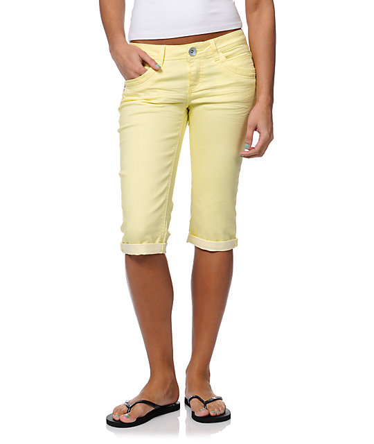 Jolt Kelly Yellow Bermuda Shorts