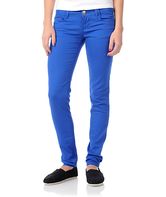 Jolt Lamele Bright Blue Skinny Jeans