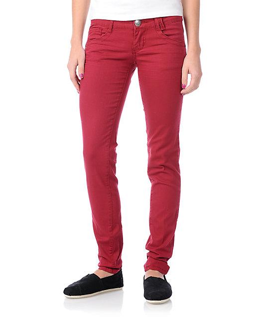 Jolt Lamele Red Skinny Jeans