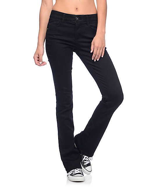 Jolt Techno Tuck Black Skinny Boot Jeans