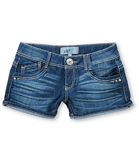 Jolt Terry Air Cord Dark Indigo Denim Shorts