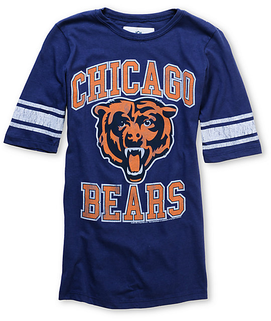 Junk Food NFL Chicago Bears Navy Football T-Shirt