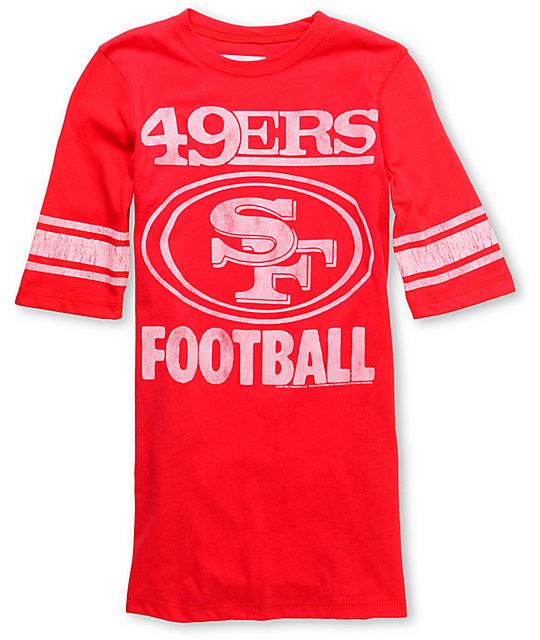 Junk Food NFL San Francisco 49ERS Red Football T-Shirt