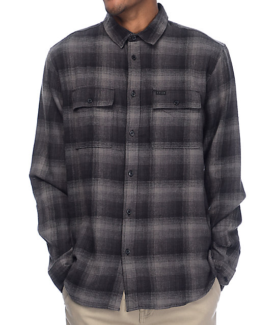 KR3W Ambush Black & Grey Flannel Shirt