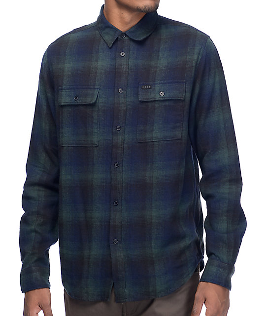 KR3W Ambush Green & Black Flannel Shirt