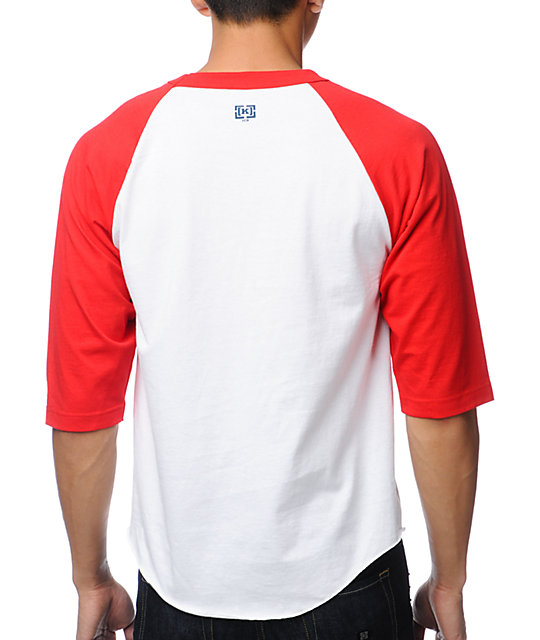 KR3W Ballpark White & Red Baseball T-Shirt