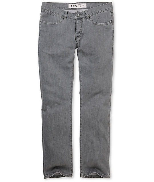 KR3W Basic Grey K Slim Jeans