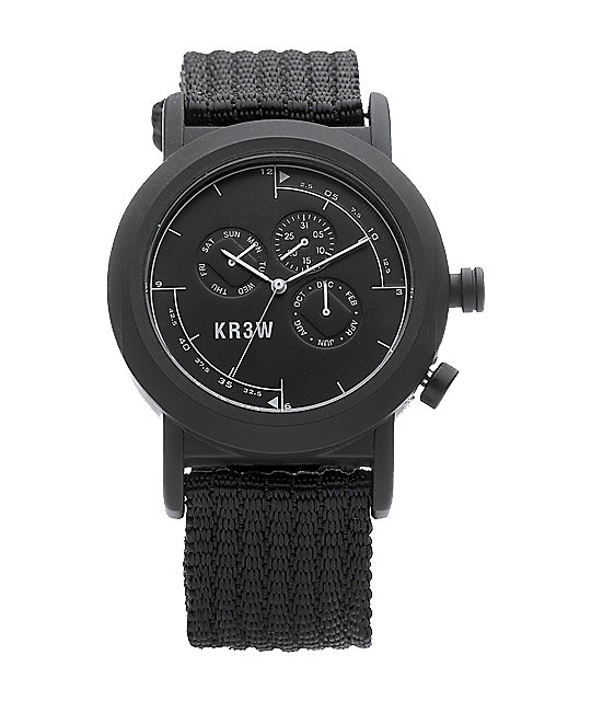 KR3W Black Navigator Analog Watch