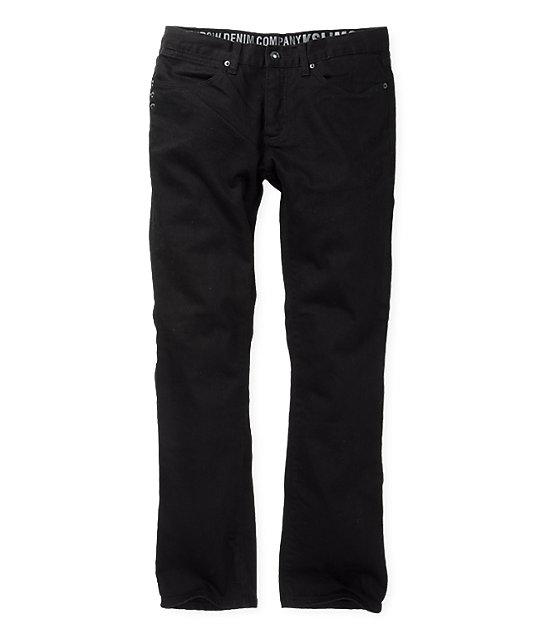KR3W Black Slub K Slim Jeans