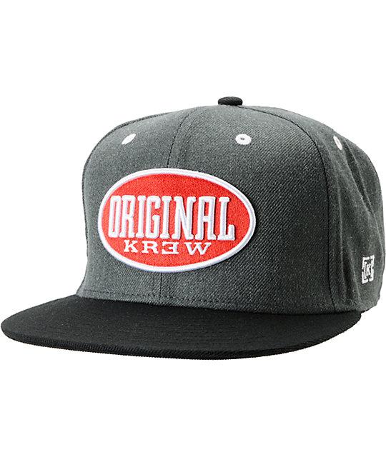 KR3W Blunt Charcoal Snapback Hat