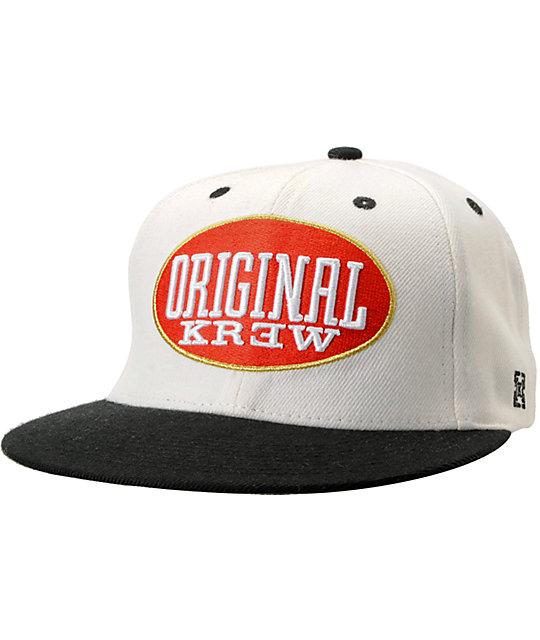 KR3W Blunt White Snapback Hat
