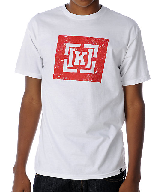 KR3W Bracket Box White T-Shirt