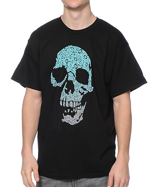 KR3W Bracket Skull Black T-Shirt