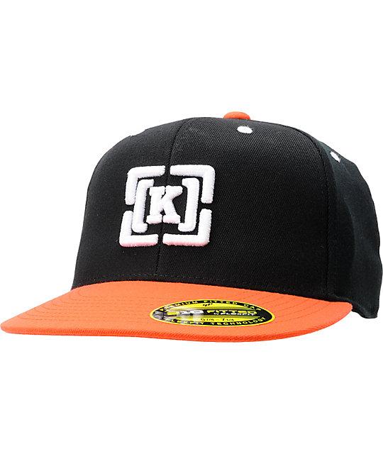 KR3W Brackets Black & Orange Hat