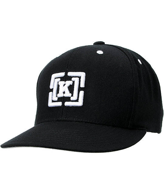 KR3W Brackets Black Snapback Hat