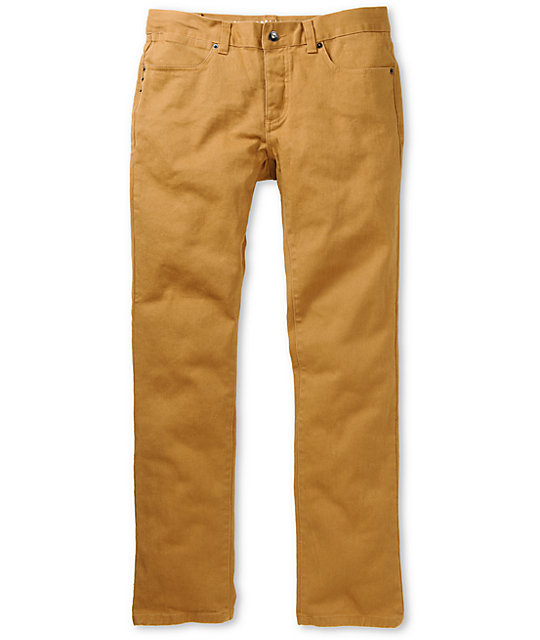 KR3W Brown Denim K Slim Jeans