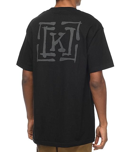 KR3W Brush Type Black T-Shirt