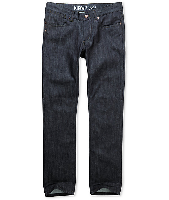 KR3W Chad Muska Raw Blue K Slim Jeans