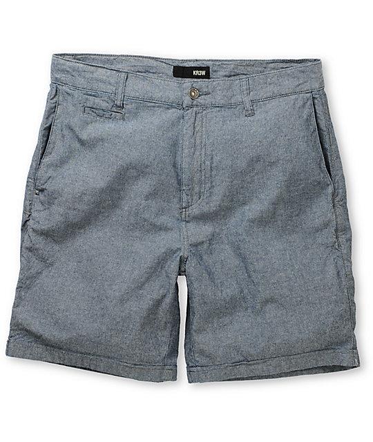 KR3W Chambray Light Blue Chino Shorts