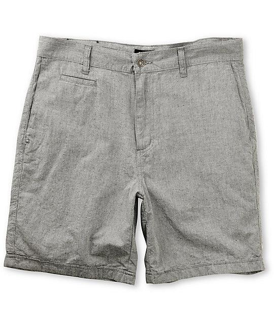 KR3W Chambray Light Grey Chino Shorts