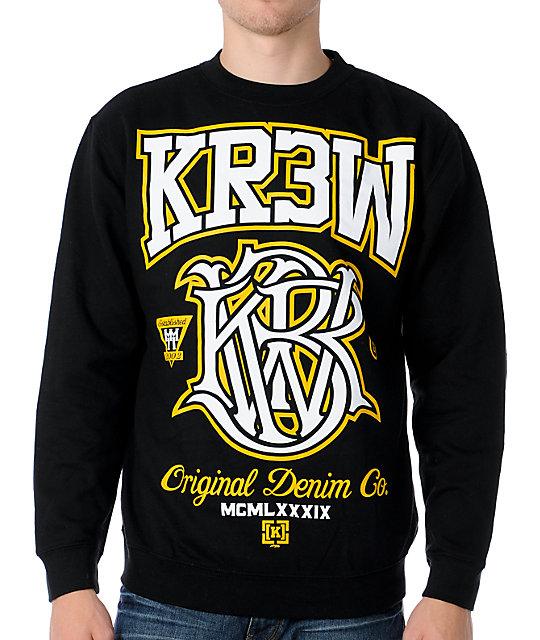 KR3W Champ Black Crew Neck Sweatshirt