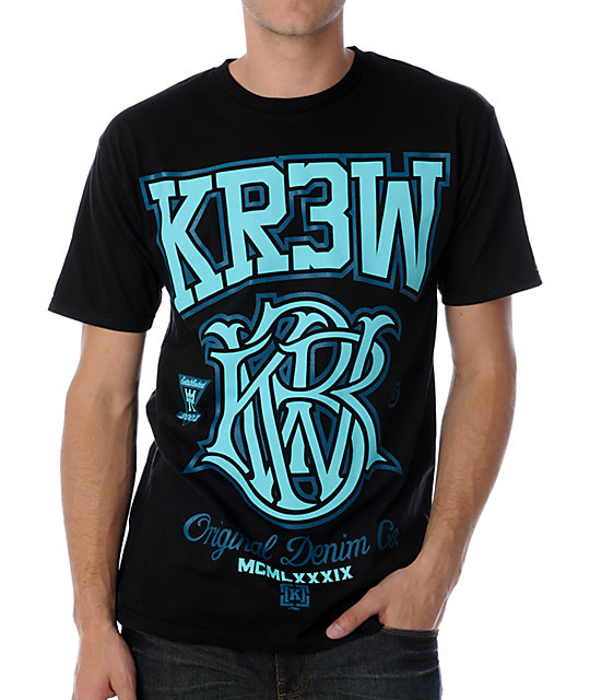 KR3W Champion Black T-Shirt
