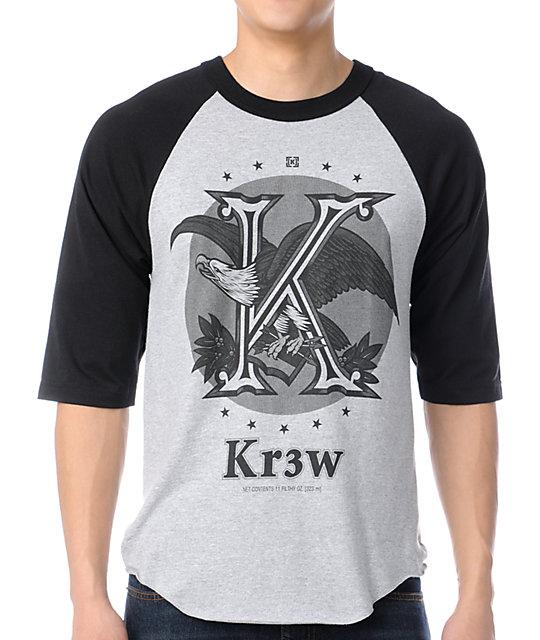 KR3W Cold One Grey & Black Baseball T-Shirt