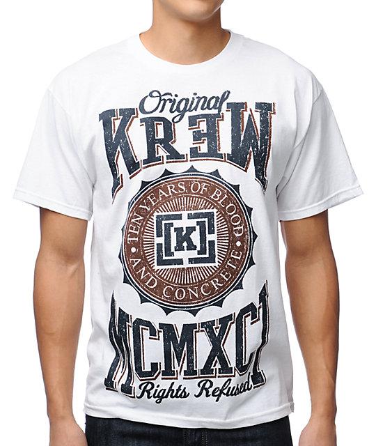 KR3W Contender White T-Shirt